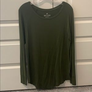 Army Green Soft & Sexy Long Sleeve Jegging T